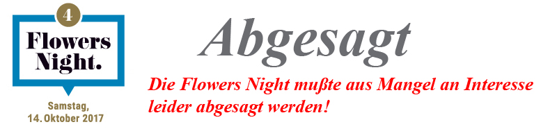 Flowers Night absage Banner1